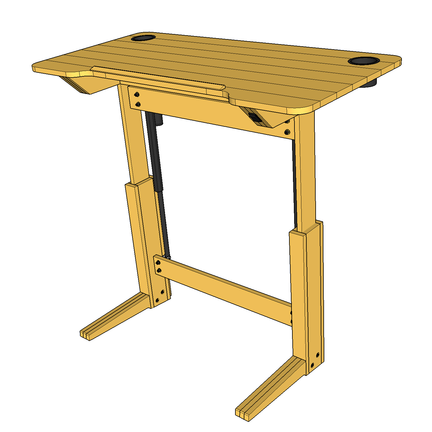 Superior Lift Bridge Standing Desk / Drafting Table Plans   Lift Bridge Furniture