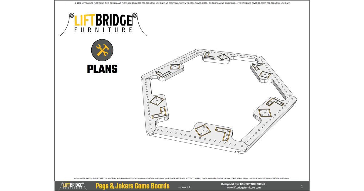 Pegs And Jokers Plans Lift Bridge Furniture