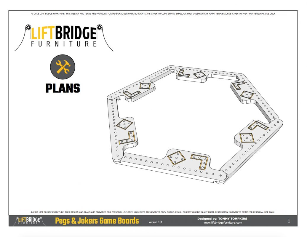 Pegs And Jokers Plans Are Now Available Lift Bridge