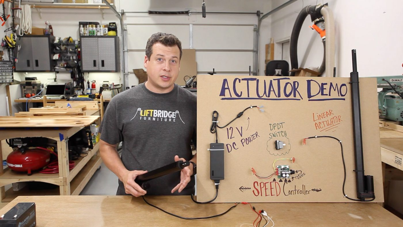 New Video Linear Actuators 101 For Woodworkers Lift Bridge Actuator Wiring Basics
