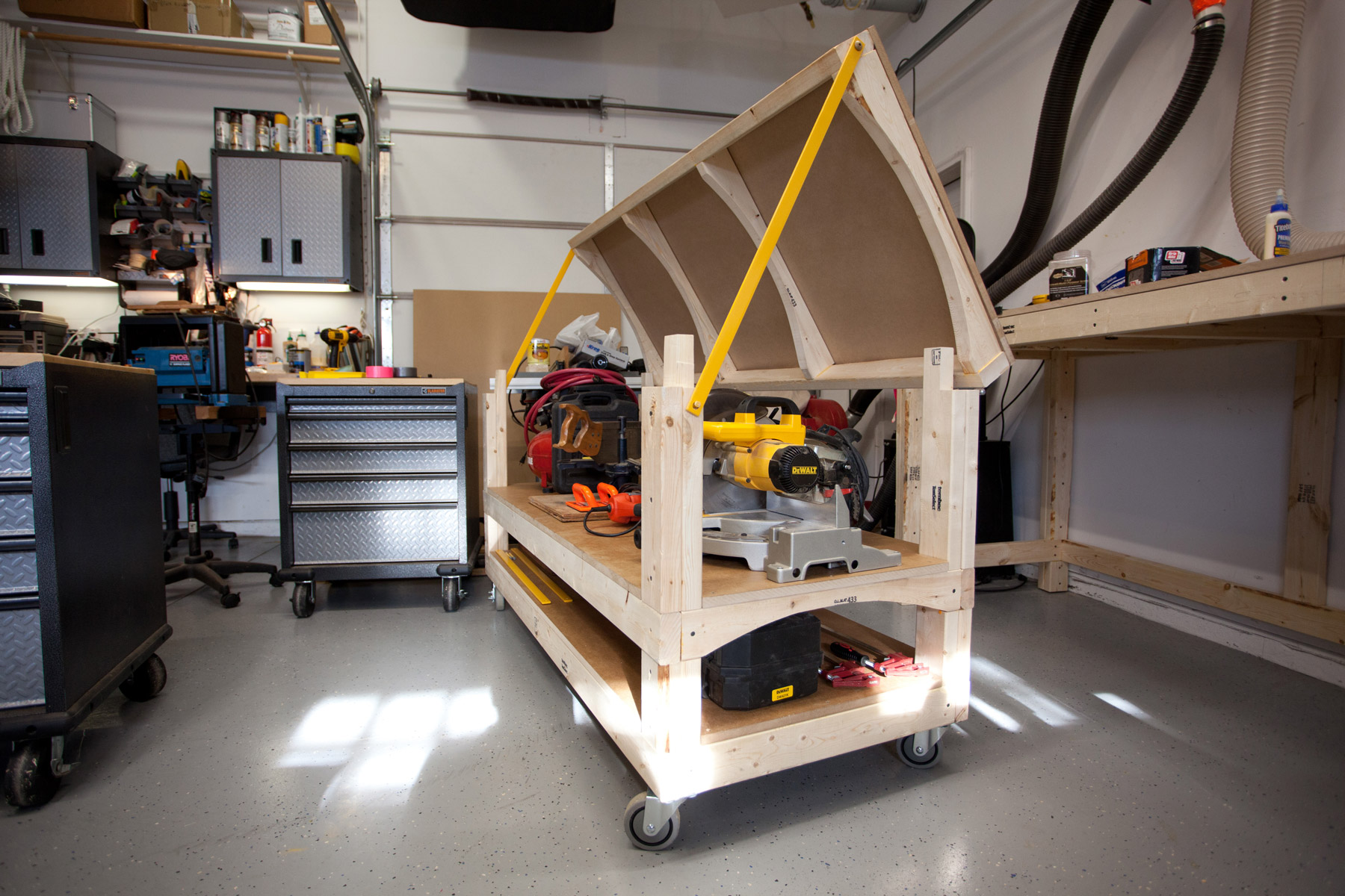 Tommy S Miter Saw Station With Rolling Workbench Plans