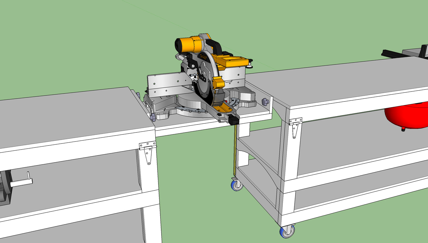 Tommy's Miter Saw Station with Rolling Workbench Plans ...